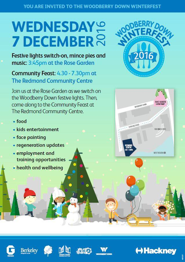 Wheely Tots invited to Woodberry Down Winter Feast